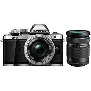 Olympus OM-D E-M10 Mark II Silver Digital Camera with 14-42mm and 40-150mm Lens