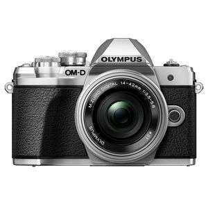 Olympus OM-D E-M10 Mark III | 14-42mm EZ Lens | 16.1 MP | Live MOS Sensor | 4K Video | Silver