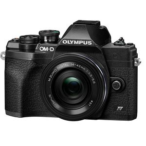 Olympus OMD EM10 Mark IV | 14-42mm EZ Lens | 20 MP | Live MOS Sensor | 4K Video | Black