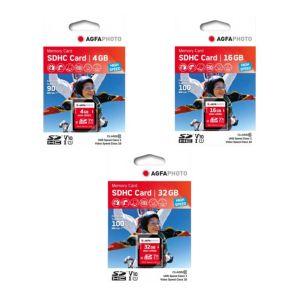 AgfaPhoto SDHC UHS-1/USH-1 Class 10 Memory Cards