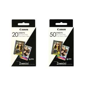 Canon Zoemini Zink Photo Paper | 20 Sheets & 50 Sheets