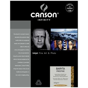 Canson Infinity Baryta Prestige 340gsm Photo Paper - Acid Free