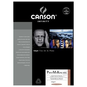 Canson Infinity PrintMaKing Rag 310gsm Photo Paper - Acid Free - 100% Cotton