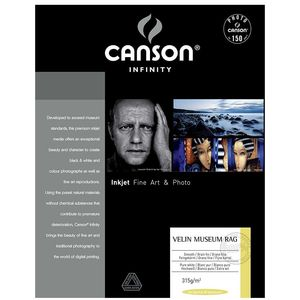 Canson Infinity Velin Museum Rag 315gsm Photo Paper - Acid Free - 100% Cotton