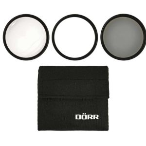 Dorr Digiline Filter Kit | Includes UV Filter, Circular Polarizer Filter & Close Up Filter