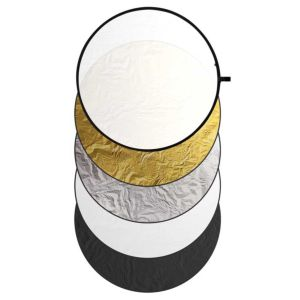 Dorr Photography Reflector | 5in1 | Foldable | Diffuser Gold White Silver Black