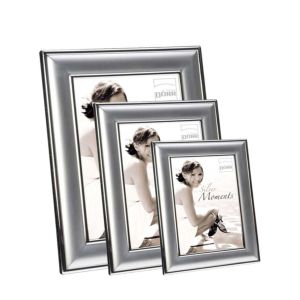 Silverstar Moments Yvonne Silver Matte Photo Frame | Stands | Modern Aesthetic