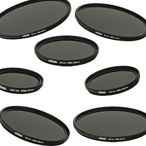 Dorr DHG Neutral Density ND 3.0 1000x 10 Stop Filters | 37mm to 82mm