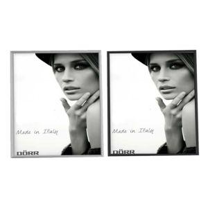 Signa Brushed Aluminium Silver and Black Photo Frames   Brushed Aluminium Finish   Stands or Hangs