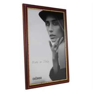 Tessin Mahogany and Gold Wooden Photo Frames | Hangs or Stands | Genuine Wood