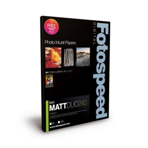 Fotospeed Matt Duo 240 Double Sided Photo Paper | 240 GSM | A2/A3/A3+/A4