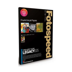 Fotospeed Legacy Gloss 325 Unglazed Gloss Photo Paper | 325 GSM | 25 Sheets | A2/A3/A3+/A4