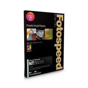 Fotospeed Natural Textured Bright White 315 Photo Paper | 315 GSM | 25 Sheets