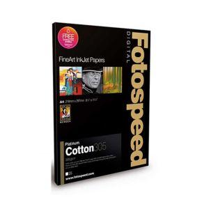 Fotospeed Platinum Cotton 305 Photo Paper | 305 GSM | 25 Sheets | A2/A3/A3+/A4