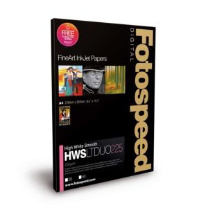 Fotospeed High White Smooth Duo 225 Double Sided Photo Paper | 225 GSM | 25 Sheets | A2/A3/A3+/A4