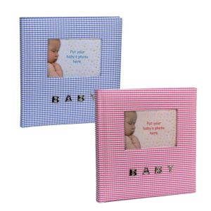 Baby Gingham 6X4 Slip In Photo Album | 100 Photos
