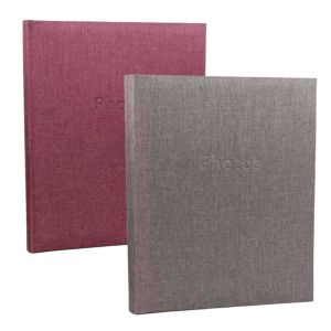 Innova Linen Self Adhesive Photo Album | 50 Sides | 120 Photos | Page Size 12.5 x 9.5 Inches