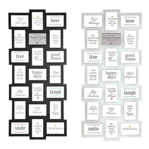 Maggiore Multi Photo Frame | Black or White | Fits Twenty One 6X4 Photos