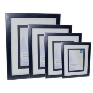 Ambassador Black Wood Photo Frame | Glass Front | High Quality Wood