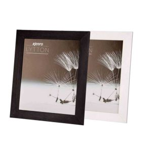 Lytton Matte Wood Photo Frames | Wood Grain Finish | Black or White | Hangs or Stands