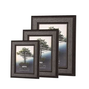 Kenro Milton Black Wood Photo Frame | Hangs and Stands | High Quality Wood | Glass Front