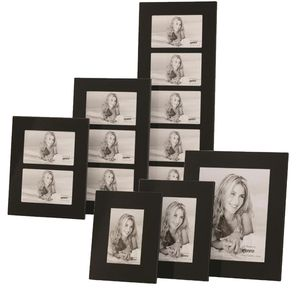 Black Glass Photo Frames - Hang or Stand - Multi Sizes