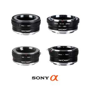 K&F | Sony E Mount Copper Lens Adapters | Converts Lenses to Fit Sony E Mount Cameras