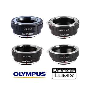 K&F | M43 MFT Lens Mount Adapters | Converts Lenses to Fit Micro 4/3 MFT Mount Cameras