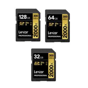 Lexar Professional 2000x SDHC/SDXC UHS-II Memory Cards