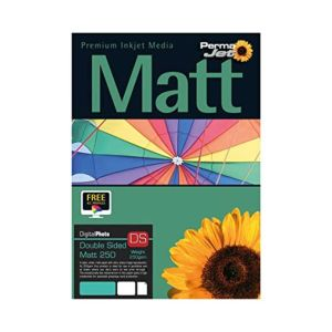 Permajet Double Sided Matt 250 Printing Paper | 250 GSM | A2/A3/A3+/A4