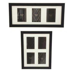 Black & Gold Multi Photo Frames