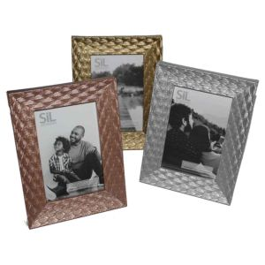 Leaf Pattern Photo Frame | Glass Front | Self Standing |  | 6x4 7x5 Inch