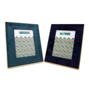 Peacock Velvet Photo Frames