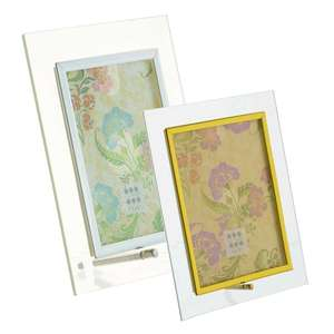 Sixtrees Flat Bevelled Glass Photo Frame in Landscape and Portrait - Silver and Gold