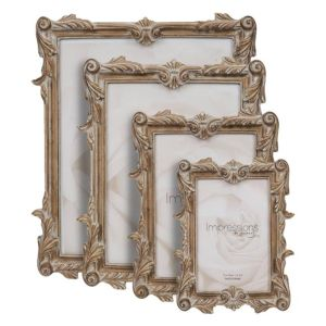 Impressions Antique Carved Wood Finish Photo Frame