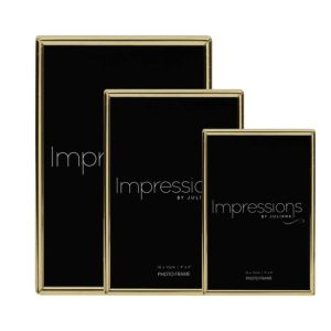 Impressions by Juliana | Brass Plated Photo Frame Collection | Thin Edged