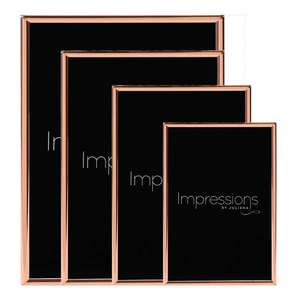 Impressions by Juliana Copper Plated Thin Edged Photo Frame Collection