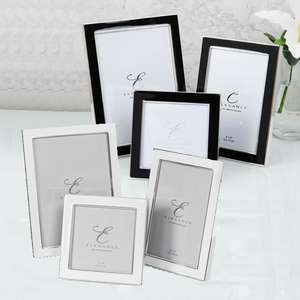 Elegance Silverplated White & Black Epoxy Frames | Multiple Sizes Available
