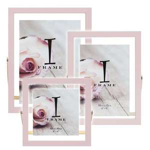 Light Pink and Gold Photo Frame on Stand Collection