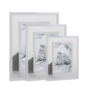 Hestia Glass Mirror Mesh Photo Frame | Glass And Mirror | Stands