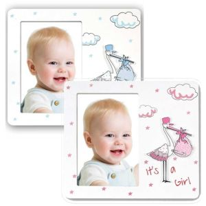Fagottino Baby Photo Frame | Blue or Pink