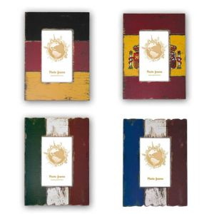 Country Flag Photo Frames | Germany; Spain; France and Italy | High Quality Wood