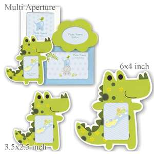 Green Crocodile Childrens Fun Photo Frame
