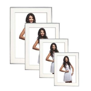 Hydra Silver Photo Frame | Stands or Hangs | Internal Mount
