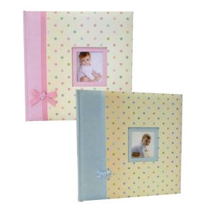 Kara Baby Pink or Blue Traditional Photo Album