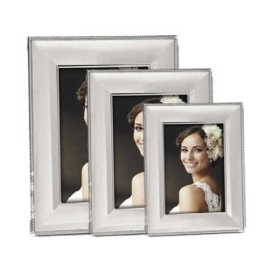 Lemno Silver Photo Frame | Shiny Silver Finish | Glass Front