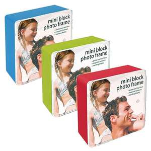Mini Block Photo Frames - 3x3 inch Photo - Red Green Blue