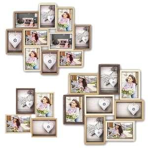 ZEP Montreaux Multi Photo Frame Collection | Wooden | Mutli-Colour (Browns)