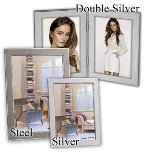 Olimpia Metal Photo Frame Collection - Velvet Back - Standing Frames