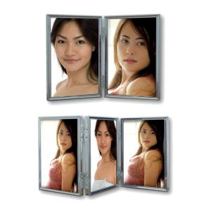 Silver Plated Double and Triple Photo Frames   Silver Plated
